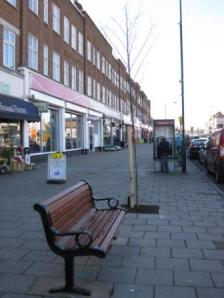 Bench and tree, Blackfen Parade, 2011