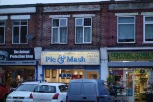 Pie & Mash shop in Blackfen Road, Jan. 2013