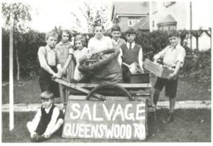 Salvage Collection, Queenswood Road c1940
