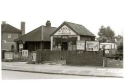 Wally Racher, boot and shoe repairer, Blackfen Road in 1966