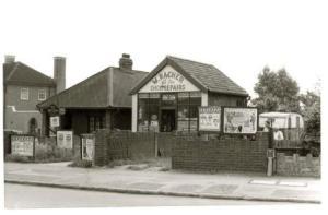 Wally Racher, boot and shoe repairer, Blackfen Road in 1966