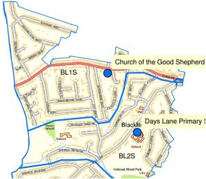 Blackfen and Lamorbey ward map. In fact the map, taken from Bexley Council's website in 2014, is an old one as it still shows the old library building in Cedar Avenue which closed in 2005.