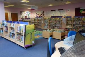 Children's corner, books and computers at Blackfen Library, March 2014. (Please note that I was not allowed to include people in the photograph, which is why it doesn't look busy. I actually had to wait quite a while before it cleared so I could take it!).