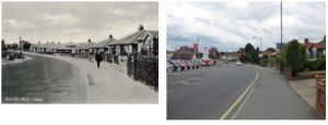 Blackfen Road near Curran Ave, 1930s and 2010