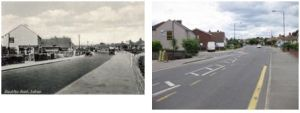 Blackfen Road near Fen Grove, 1930s and 2010