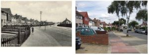 Chester Road in the mid 1930s and in 2010