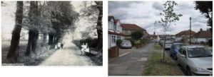 Days Lane towards Blackfen, 1900 and 2010