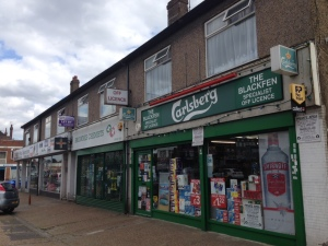 Former RACS Stores which opened in 1931. Before that, the site of the strawberry field at Blackfen Farm