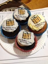 The Broken Drum First Anniversary Cupcakes