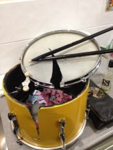 """The Broken Drum""! Containing Tombola tickets."