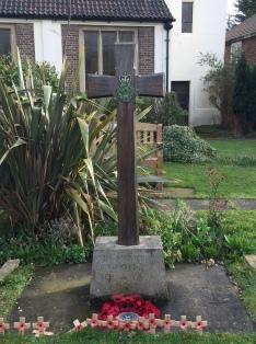 British Legion cross, Holy Redeemer Church